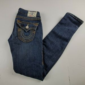 True Religion Ultra Low Rise Skinny Jeans